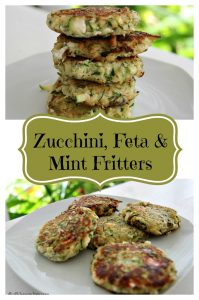 zucchini, feta and mint fritter