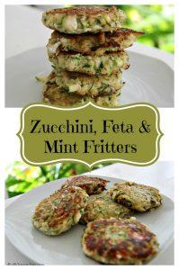zucchini, feta and mint fritter