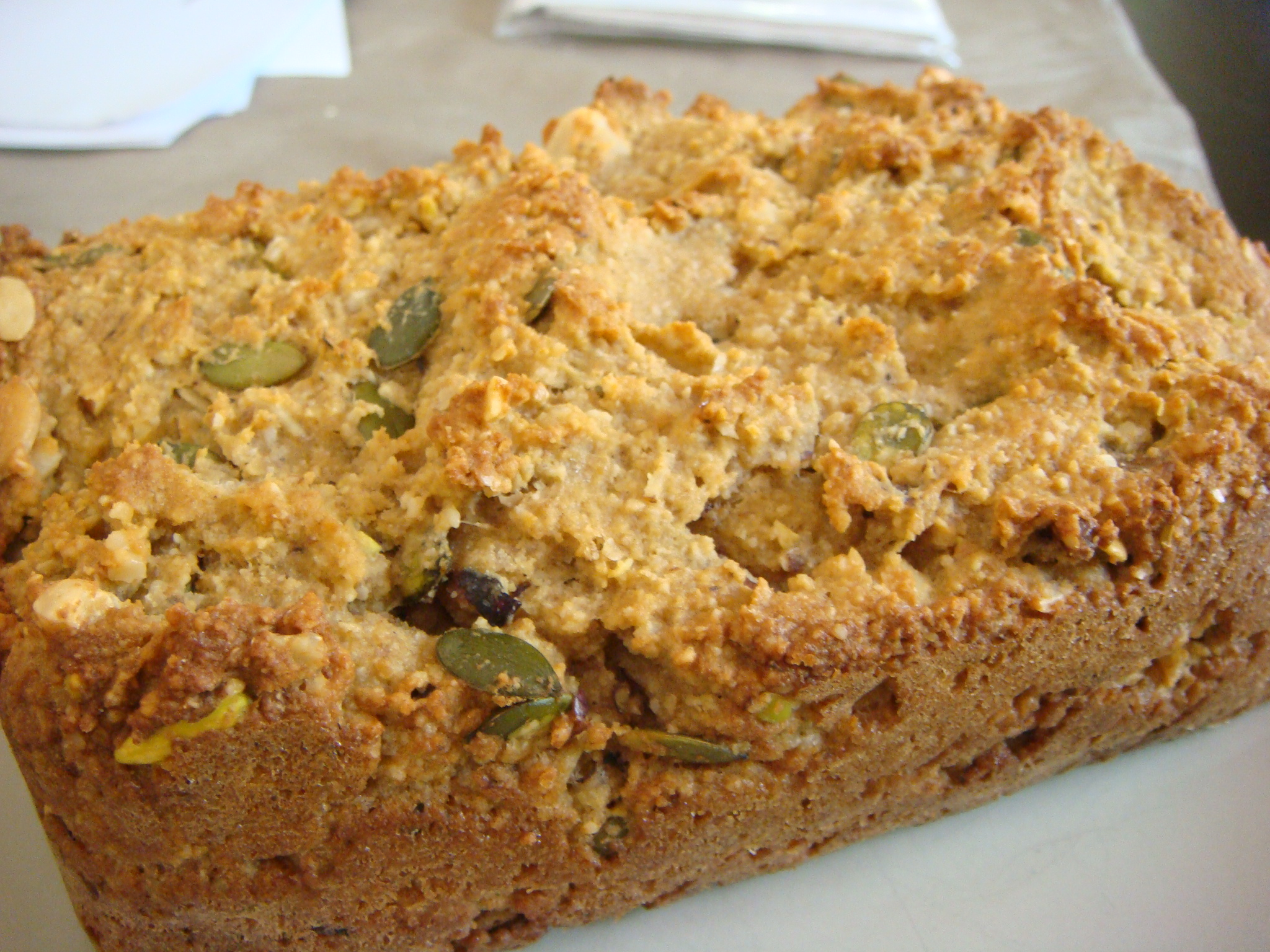 Nutty gluten free bread