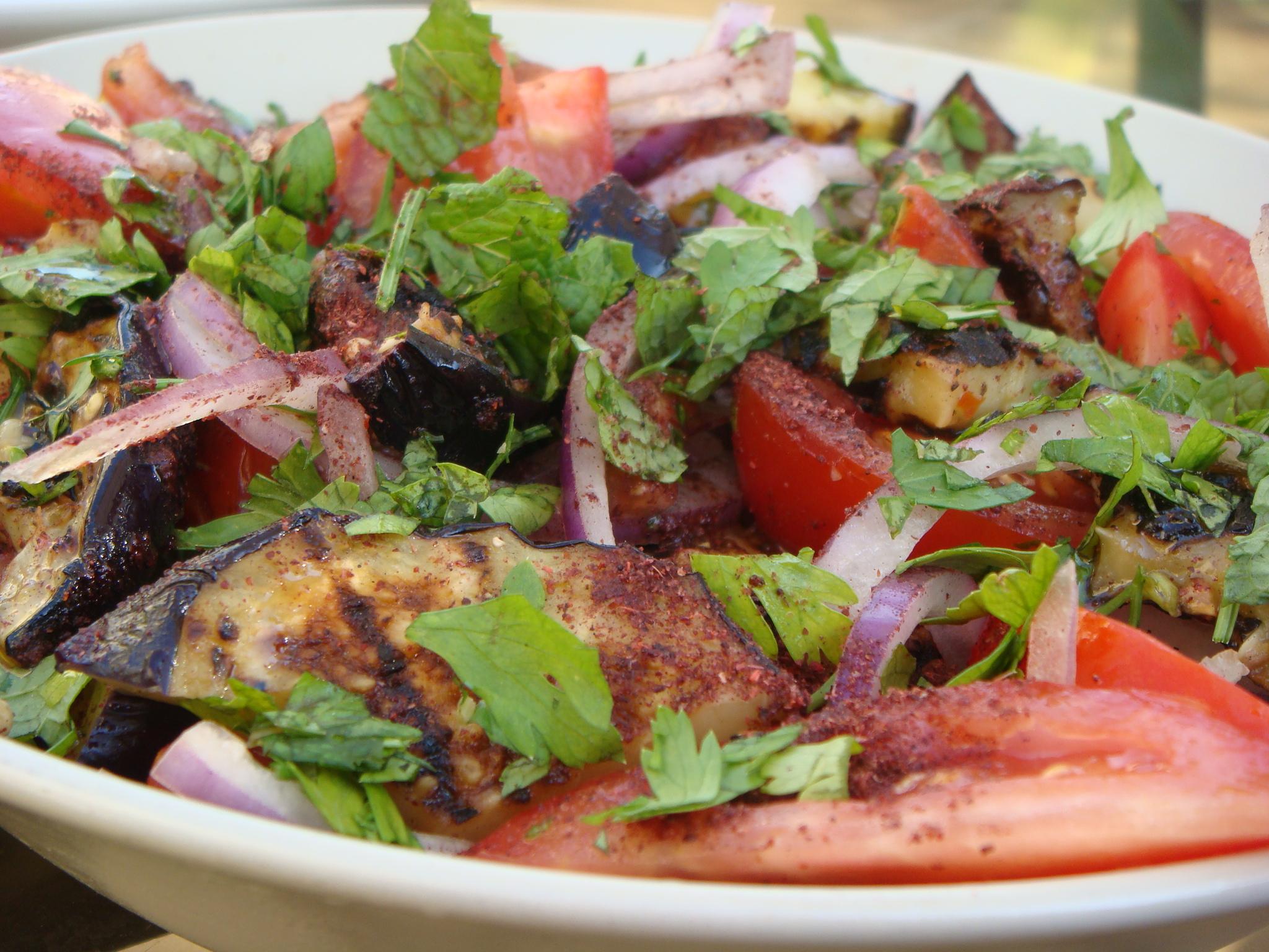 eggplant and sumac salad