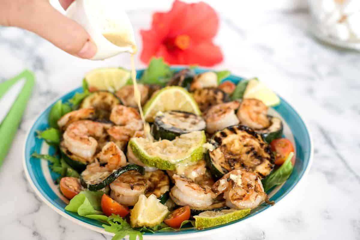 shrimp zucchini salad