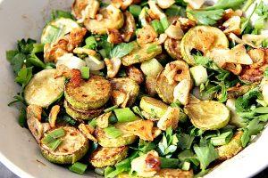 zuccihini garlic salad