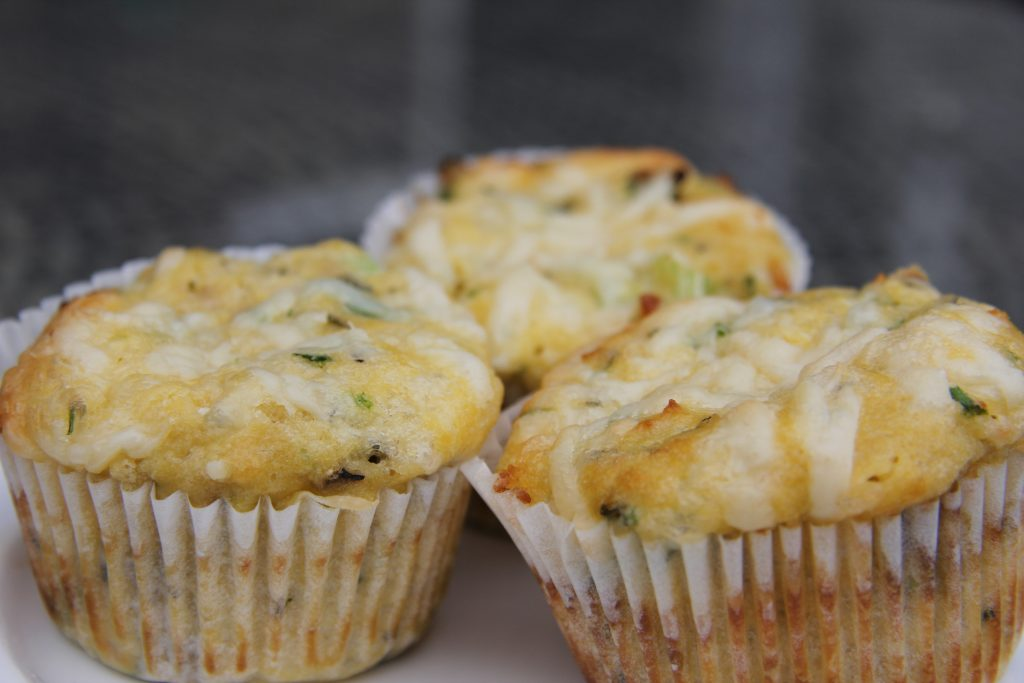 cheese chive onion muffin