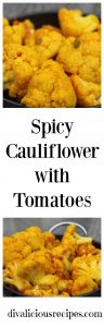 spicy cauliflower tomatoes