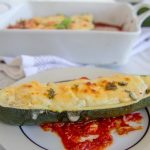 baked zucchini boats with a ricotta filling