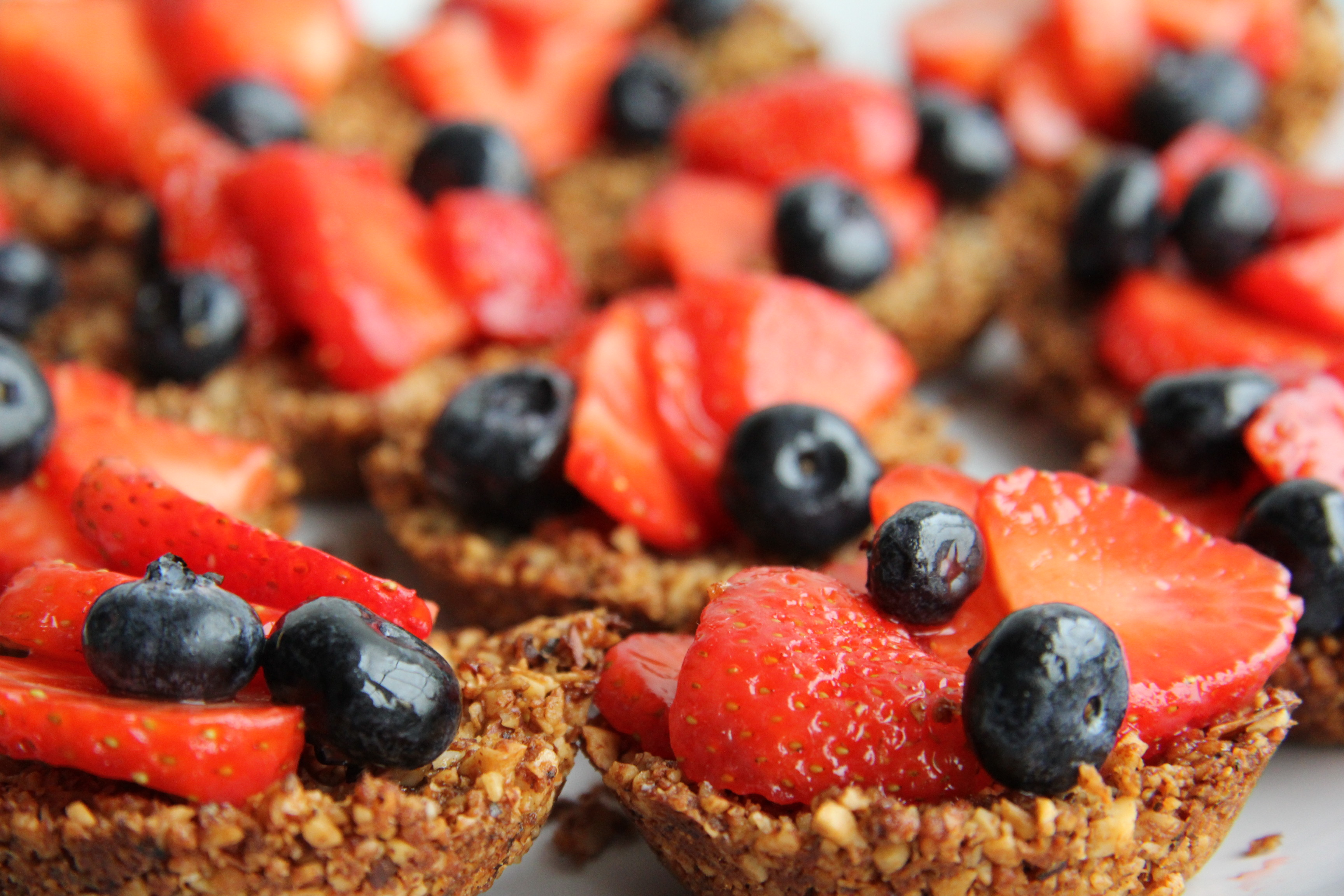 Strawberry & Blueberry Tarts with Ginger Nut Crust ...