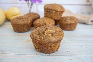 chayote cinnamon flaxseed muffins