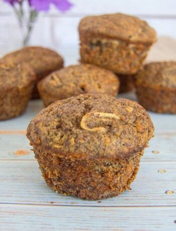 chayote cinnamon flaxseed muffins