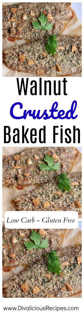 walnut baked fish