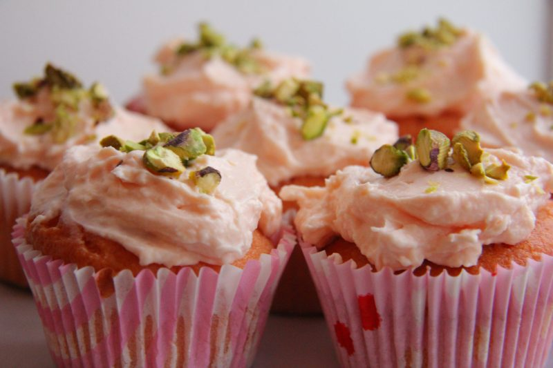 Rosewater cup cakes