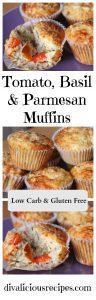 tomato, basil, parmesan muffin