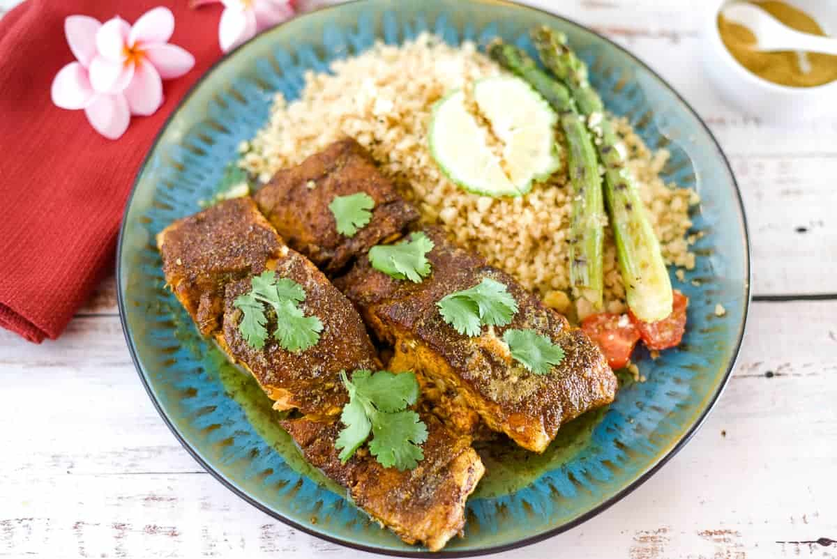 moroccan salmon fillets