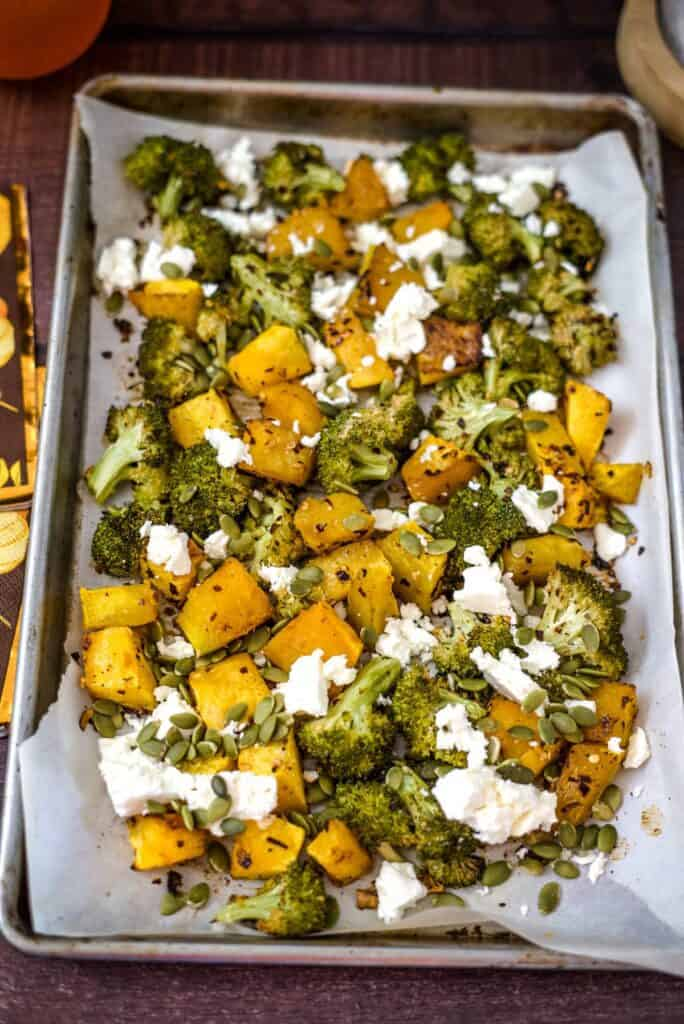 roasted pumpkin broccoli