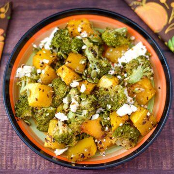 roasted broccoli pumpkin