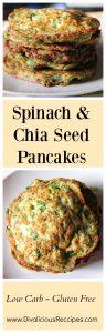 spinach chia pancakes