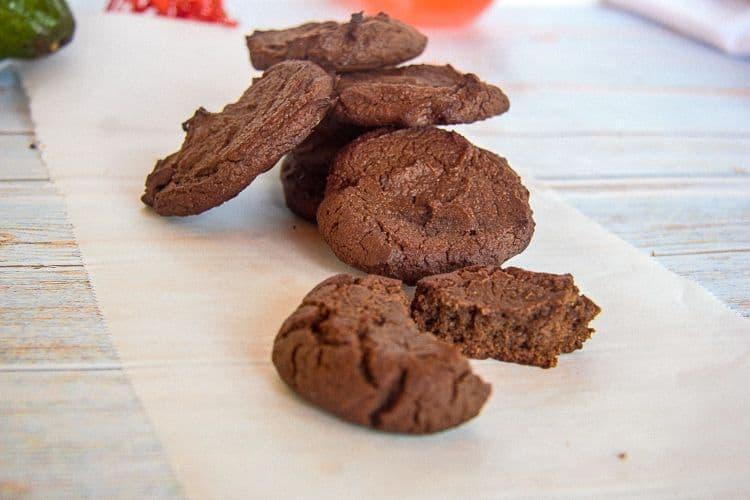 avocado chocolate cookies