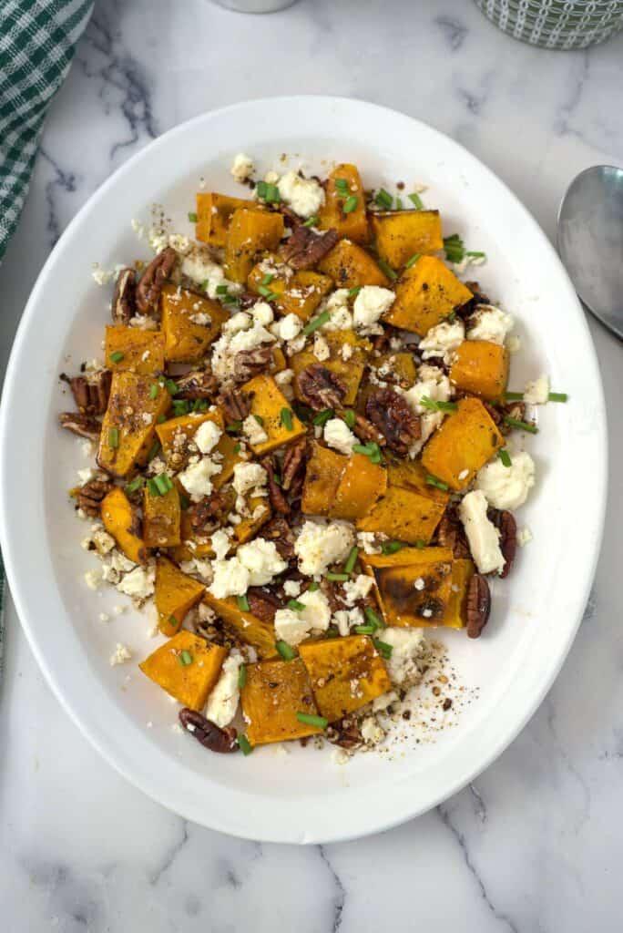 pumpkin feta salad
