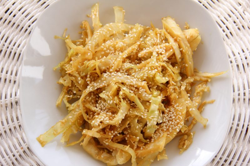 curried coconut cabbage