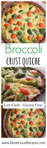 broccoli crust quiche