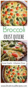 broccoli crust quiche