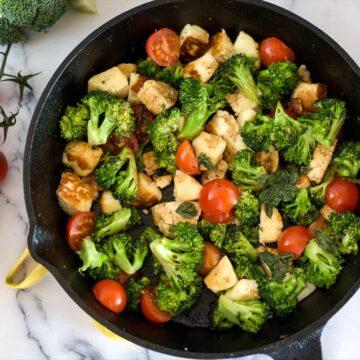 broccoli halloumi