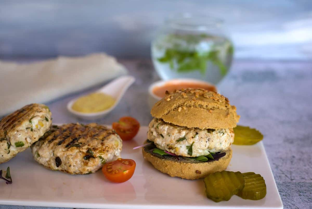 chicken tarragon burger