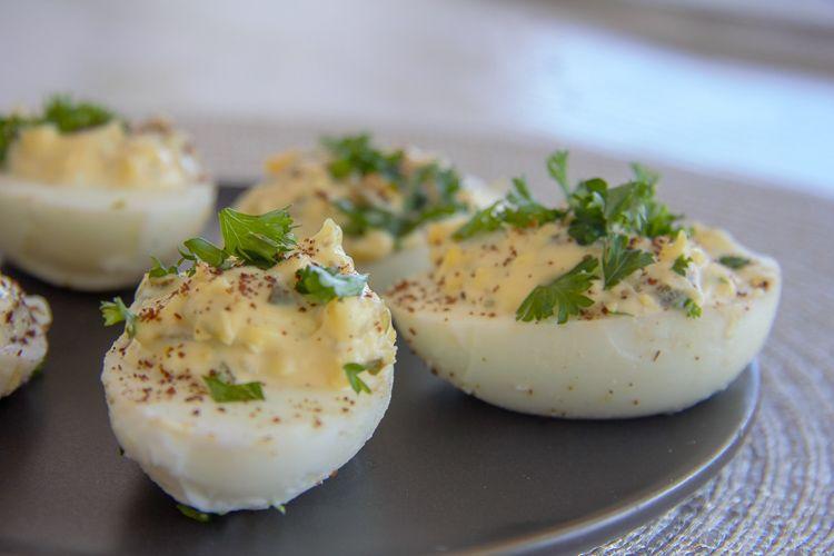 lemon devilled eggs
