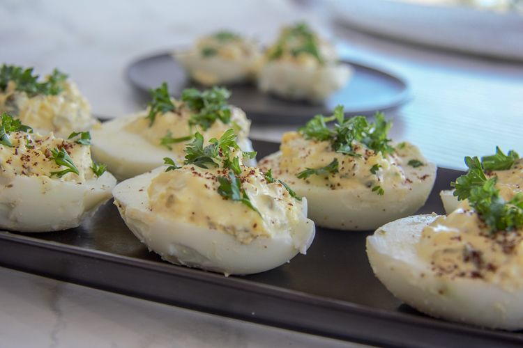 lemon devilled eggs