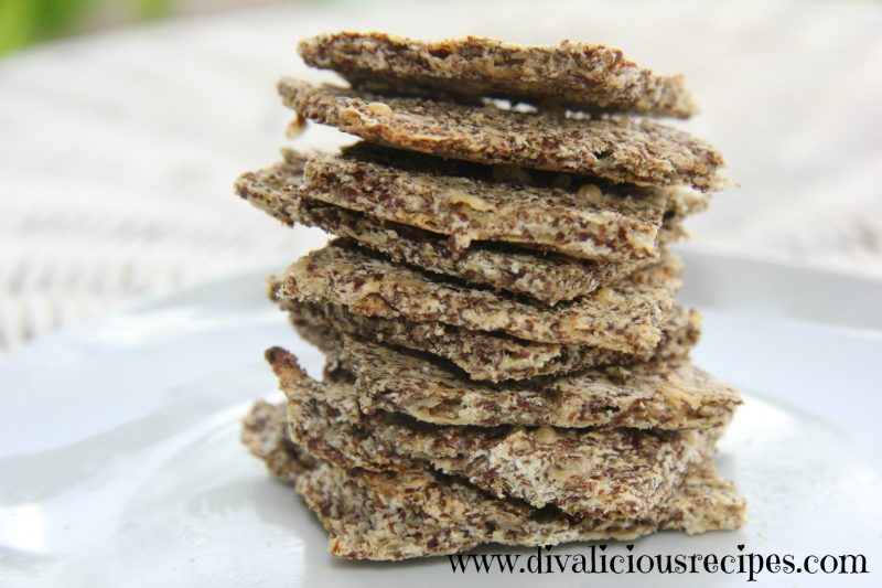 flaxseed chia parmesan crackers