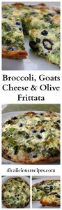 Broccoli & Goats cheese frittata