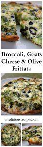 Broccoli & Goats cheese frittata