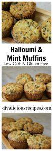 Halloumi muffins