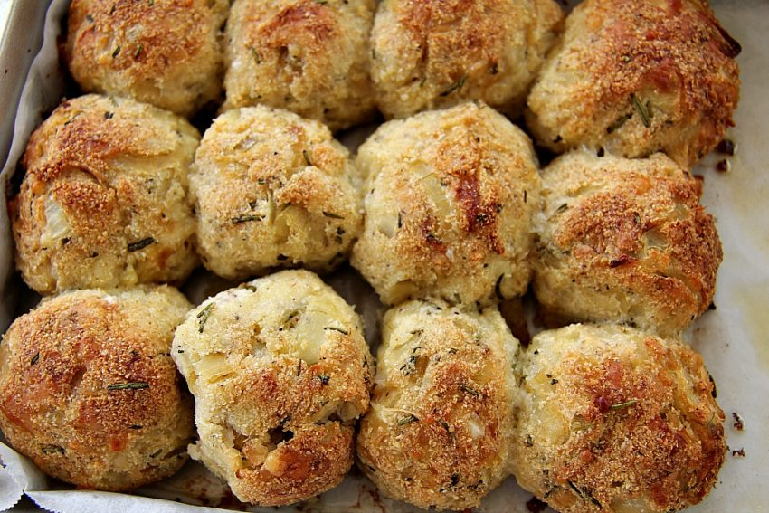 Cheese, Onion and Rosemary Dough Balls