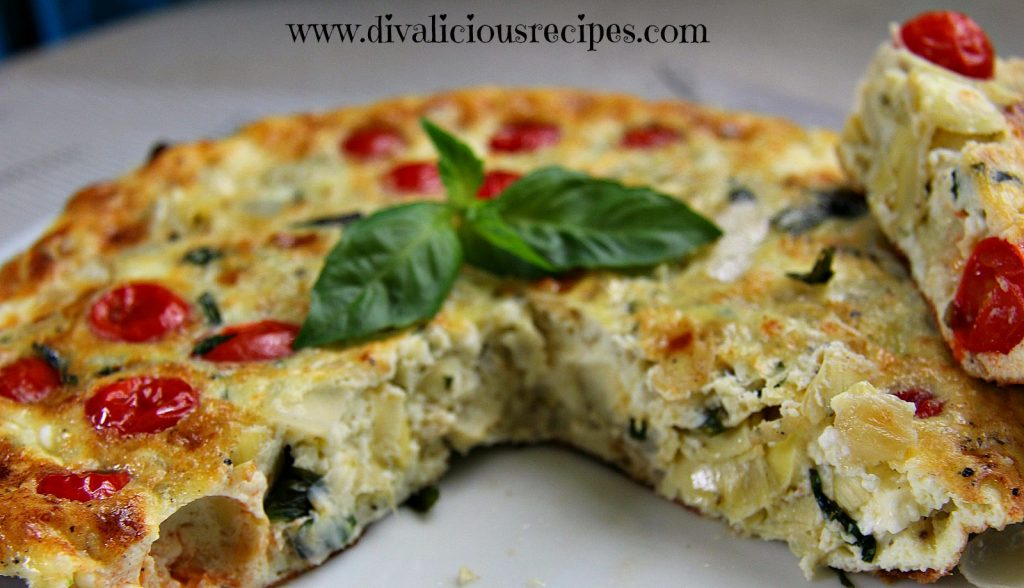 Tomato and basil frittata