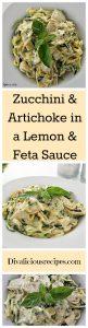 Zucchini & Lemon in Feta Sauce
