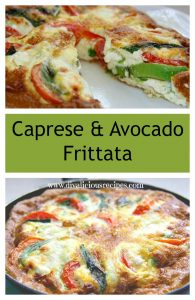 Caprese and avocado frittata collage