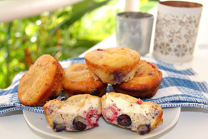 low carb berry muffins