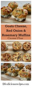 Goats cheese, red onion and rosemary muffins