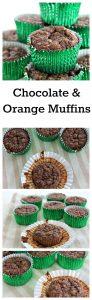 chocolate and orange muffins