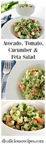 Avocado, Tomato, Cucumber & Feta Salad