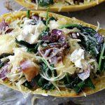 Spinach & Goat Cheese Stuffed Spaghetti Squash
