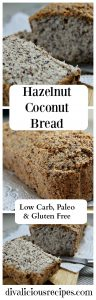 hazelnut coconut bread
