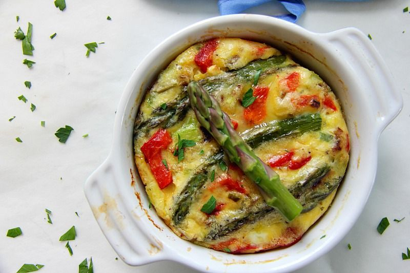 asparagus red pepper frittata