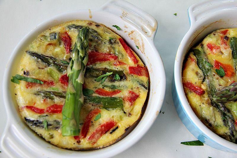 asparagus red pepper frittata