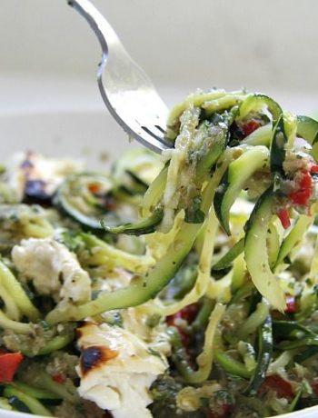 zucchini feta noodles