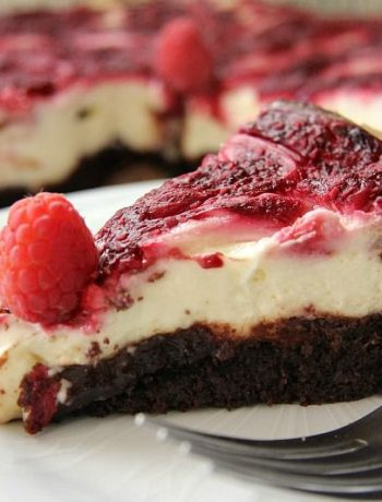 raspberry cheescake brownie