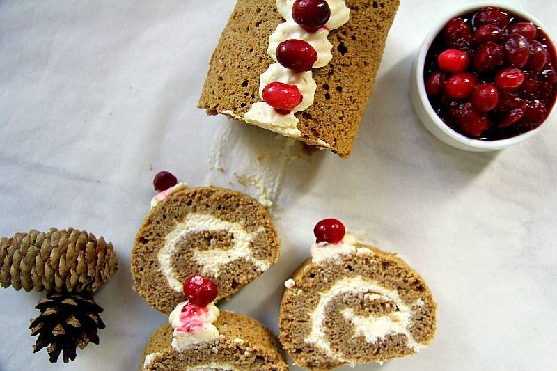Gingerbread Swiss Roll