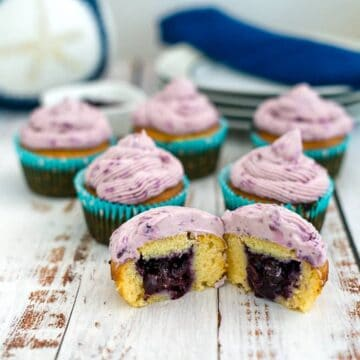 cupcakes with a blueberry filling