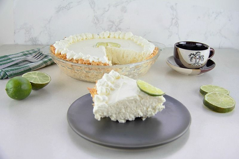 coconut crusted key lime cheesecake