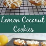 lemon coconut cookies